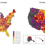 Unemployment rates by county