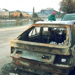 Burnt out car, Salzburg