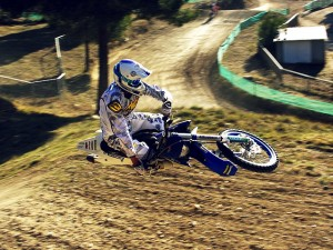 Mathias Bellino Training on his Husaberg