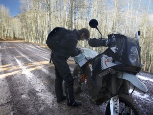 Off-Road in the Snow on a KTM 990 Adventure – RideApart