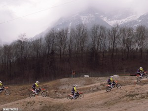 Stegenwald X-Bowl Arena MX 2nd ride 2013 (snowing)