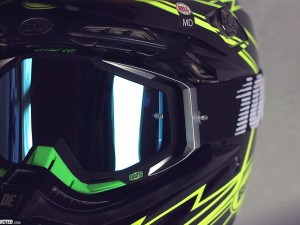 Photos of some new 100% goggles and glasses.