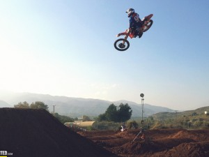 Behind the scenes at the KTM Factory photoshoot