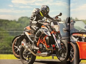 Great shot from the latest Motorrad magazine. #ktm