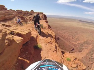 Off-Road Motorcycle Cliff Riding