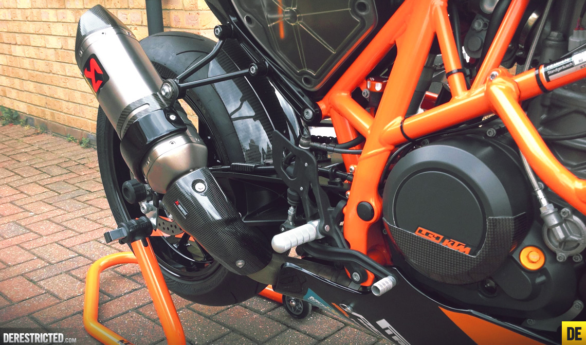 Russ?s Black and Orange KTM 690 Duke