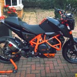 Russ's Black and Orange KTM 690 Duke