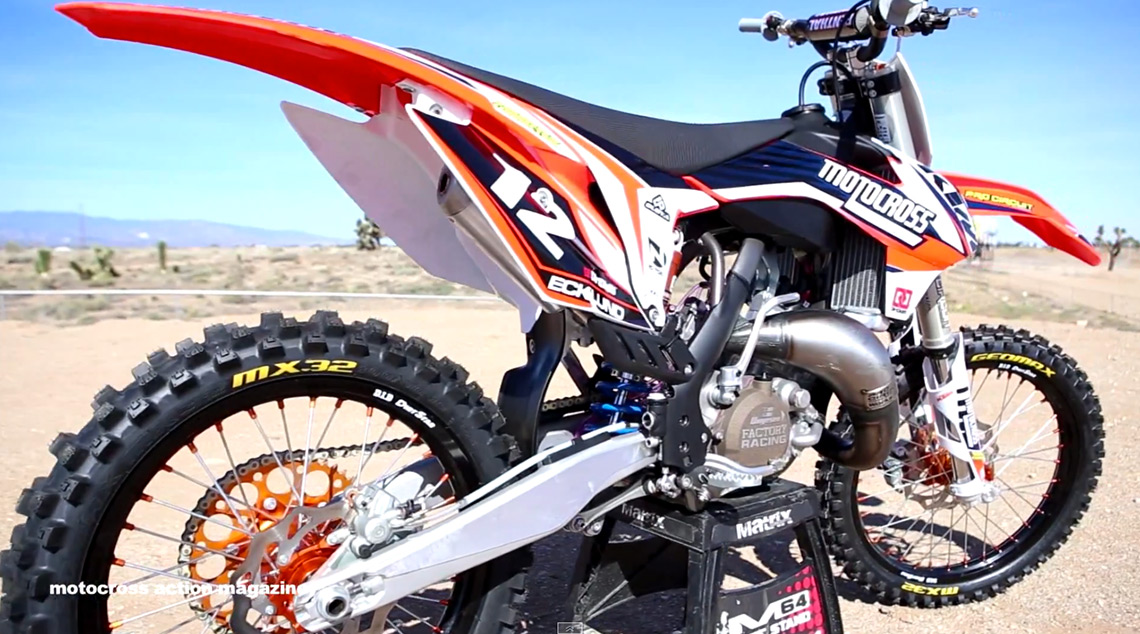 Motocross action tests a trick 2014 ktm 125sx derestricted - Moto crosse ktm ...