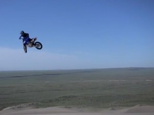 Tanner Chadwick going big in the dunes