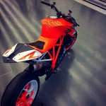 The original #superduke prototype back in the #kiskadesign studio today. #ktm