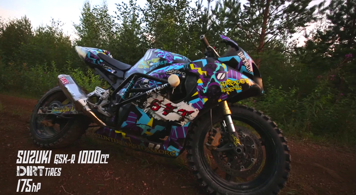 Custom Bmx Bikes >> StuntFreaksTeam – Suzuki Gsx-R ON DIRT | DERESTRICTED