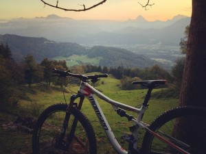 Back in Salzburg and Squeezing a sneaky ride in while my wife goes back down with the kids in the car :) #mtb
