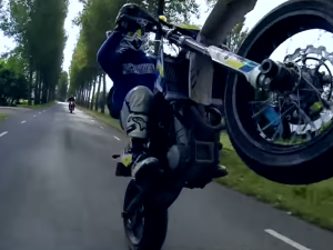 Supermoto In Slowmotion! (GoPro Hero 4 Black Edition!)