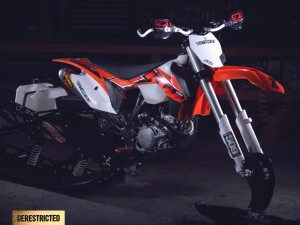 KTM 450 XC Timbersled snow bike – David McClures