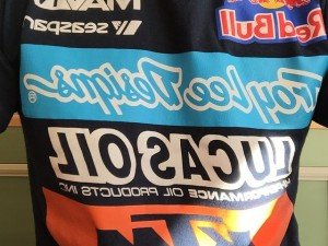 Looking forward to round 2 of the #supercross tonight! #Ktm #troyleedesignsThanks @craigdent20 for the shirt!