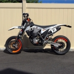 I love it when people remix the GFX I designed :) sweet  #ktm #supermoto #exc from @grady09