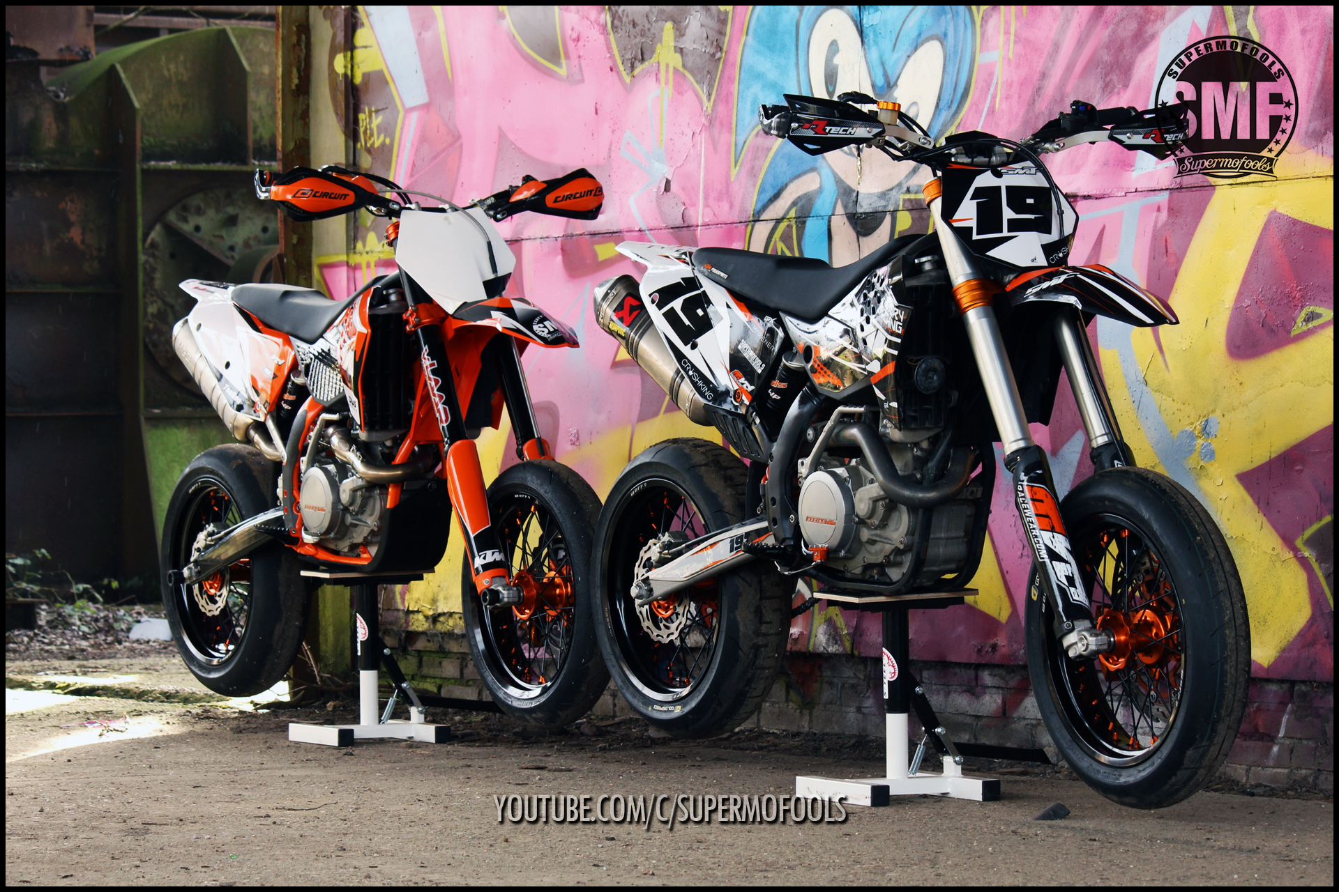 KTM EXC530s Custom Built Supermotos SUPERMOFOOLS