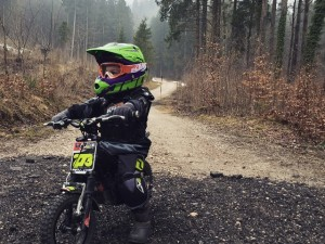 Out for a walk in the woods with my boys #oset #minimoto #oneindustries