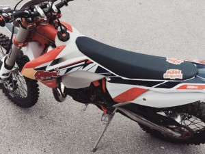#KTM #300exc with custom gfx kit by @zajcmaster #enduro #twostroke #design