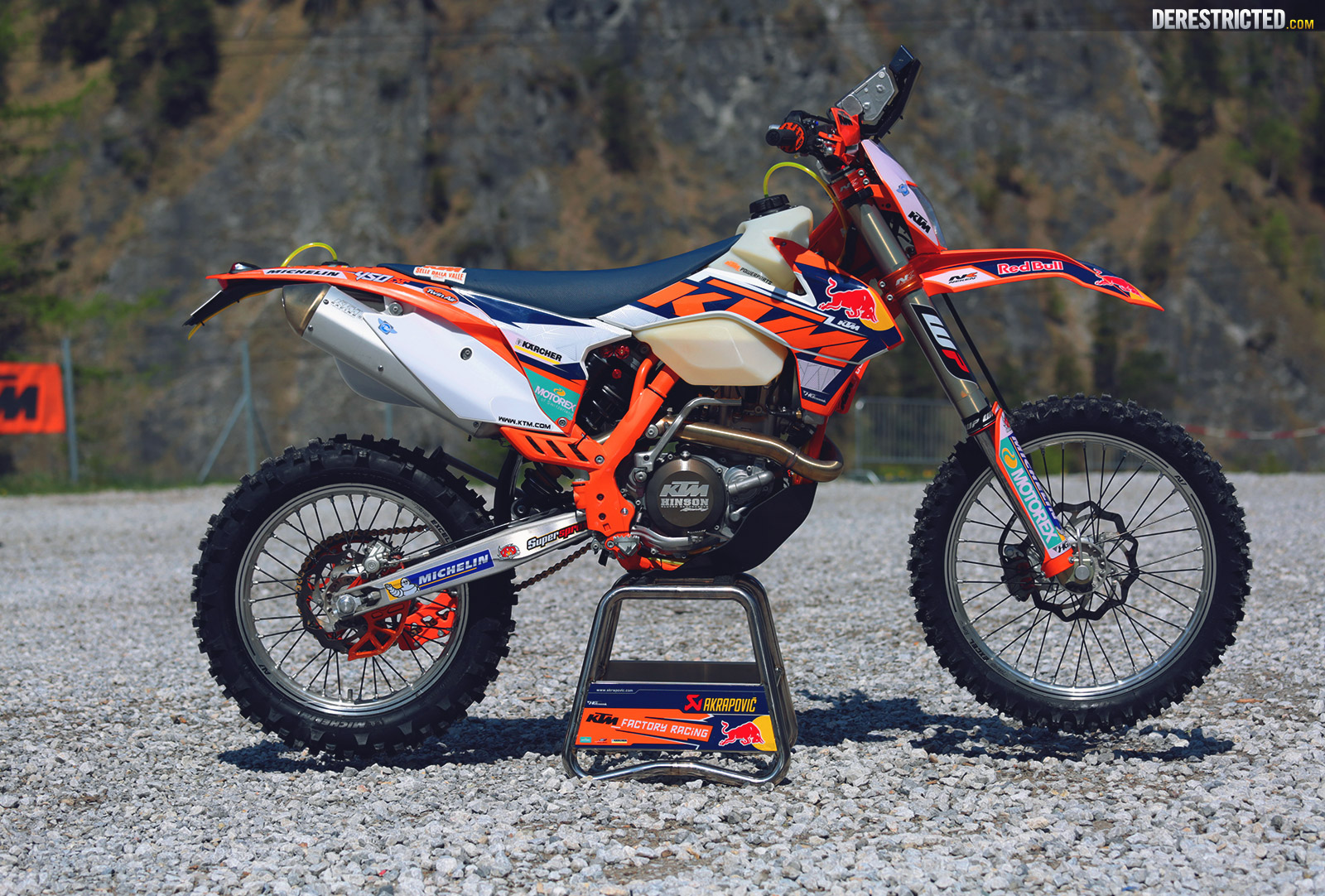 ktm 450 exc matthias walkner s factory sardinian rally bike derestricted. Black Bedroom Furniture Sets. Home Design Ideas