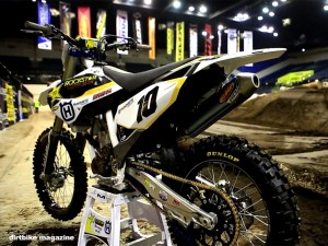 Inside Colton Haaker's Factory 2015 Husqvarna FC350 Endurocross bike
