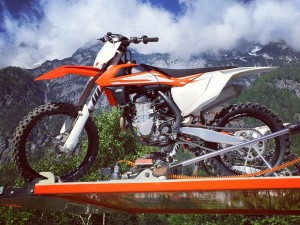 Just about to have a first ride on every 2016 #KTM #sxf model! Little bit excited! Haha. #motocross @xbowlarena