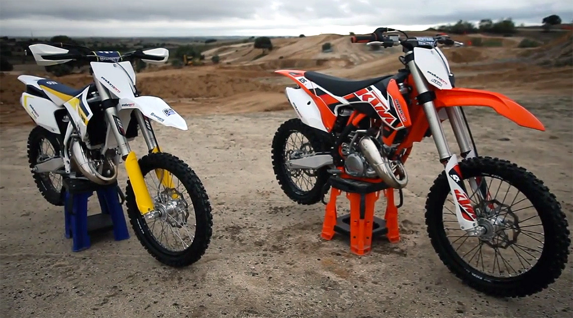 KTM-SX-125-vs-Husqvarna-TC-125