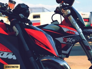 KTM 250 EXC Supermoto – On the track