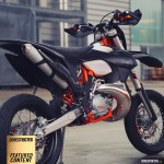 KTM 250 EXC Supermoto – Blacked out