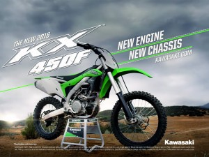 All new 2016 Kawasaki KX 450F