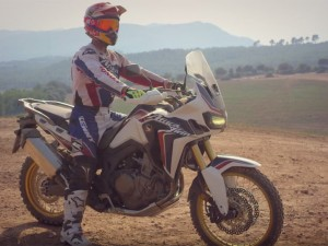 Marc Marquez & Joan Barreda test the new Honda CRF1000L Africa Twin