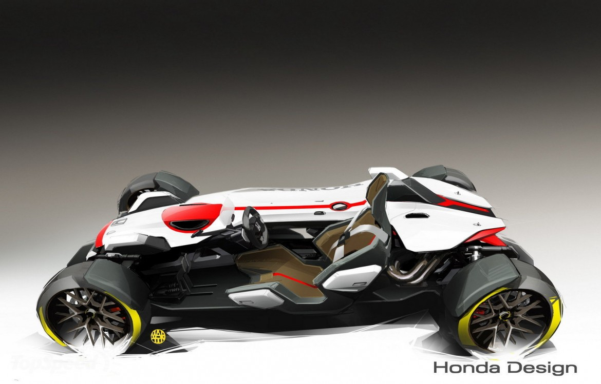 Honda project 2 4 ultimate roadster concept sketches for 2 by 4 design