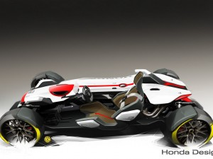 Honda Project 2&4 Ultimate Roadster Concept Sketches