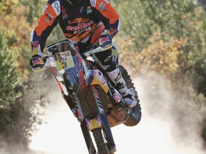 The legendary @tobyprice87 wins #Dakar day two, ahead of Ruben Faria's #husqvarna !  #KTM #ride100percent photo by @enduro21_official