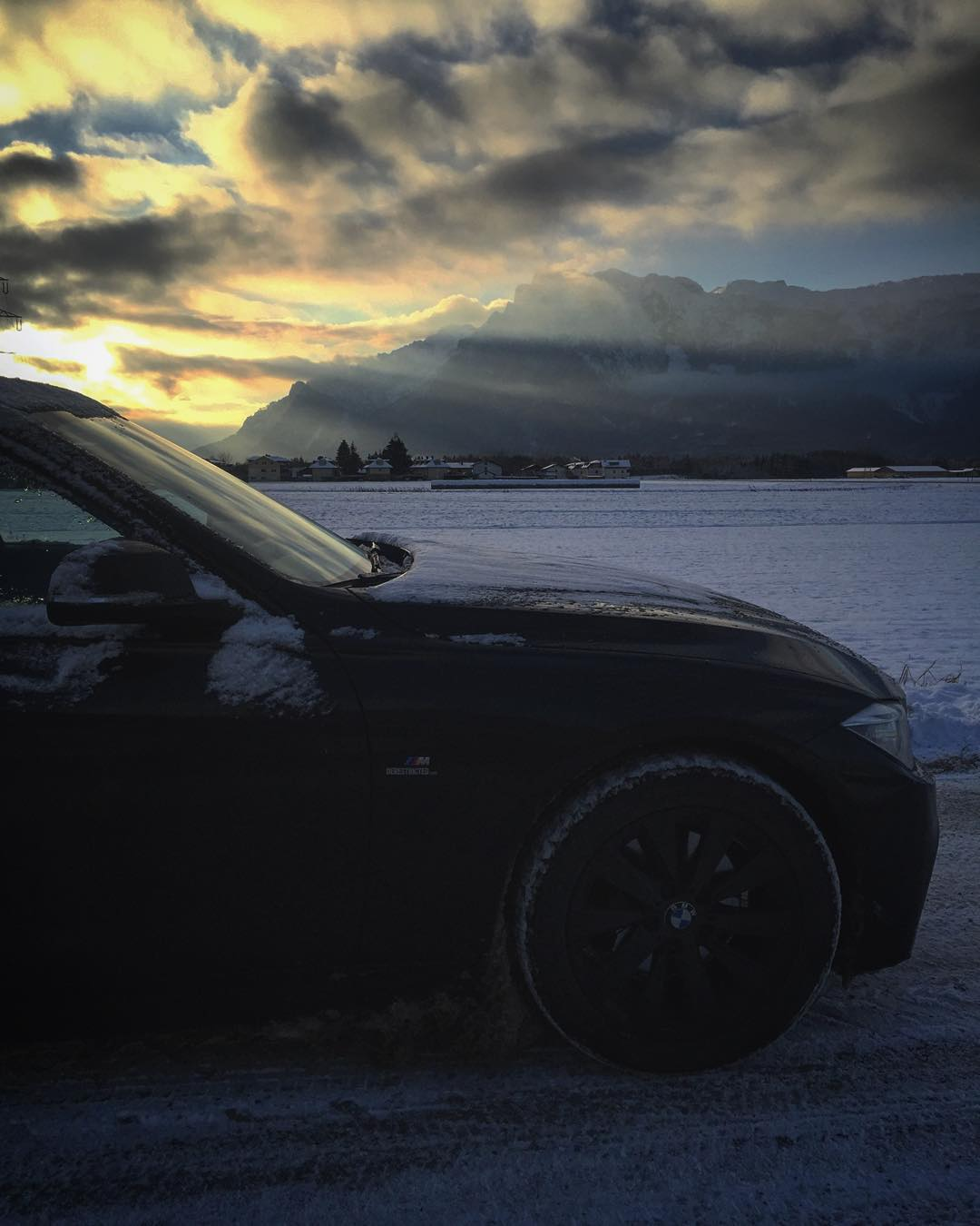 Got to give it up to #BMW for making the #xdrive system. You can turn traction control off in sport+ mode but with it on this thing is incredibly fun and predictable to drive even in super sketchy conditions. By far the most expensive car I have ever bought but well worth it so far! #msport #f31 #salzburg