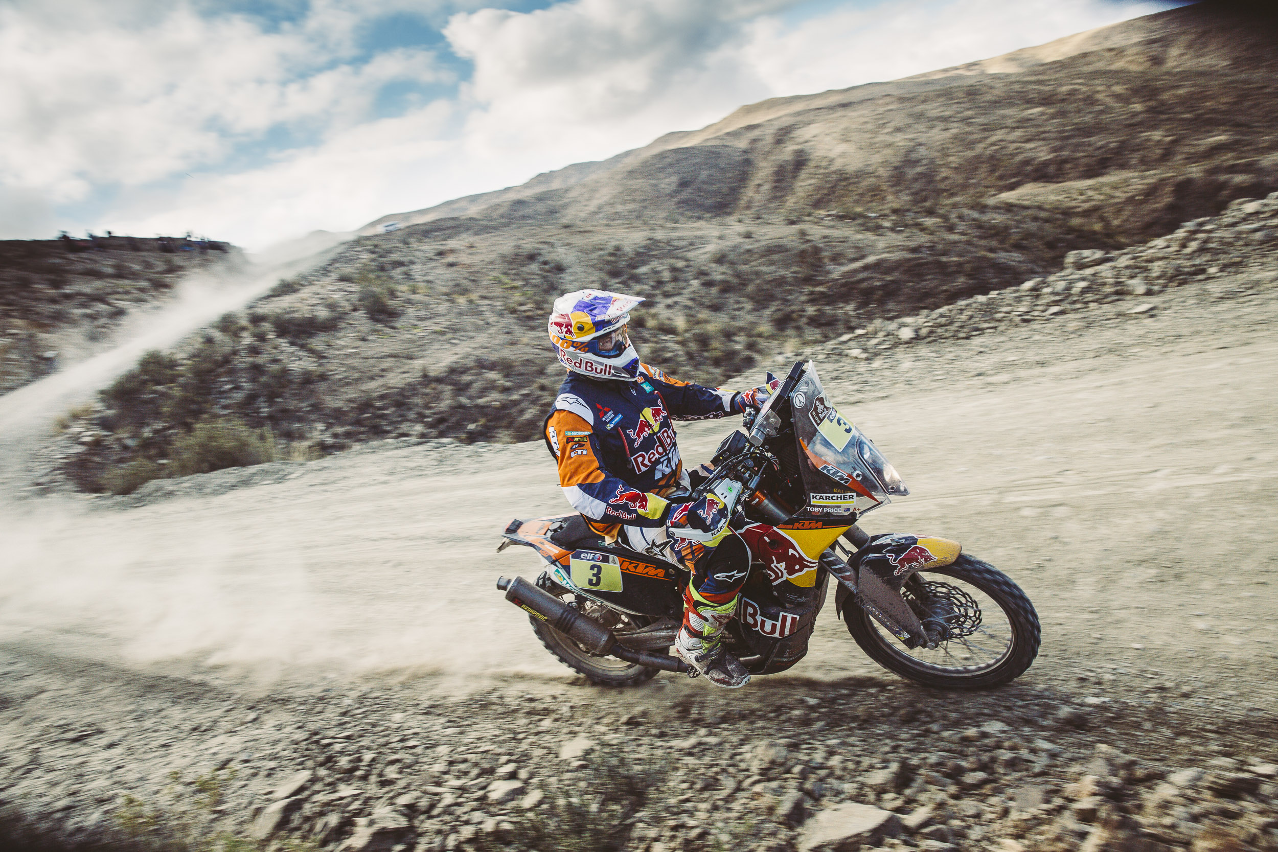 Toby Price (AUS) from Red Bull KTM Factory Team performs during stage 5 of Rally Dakar 2016 from Jujuy, Argentina to Uyuni, Bolivia on January 7, 2016.