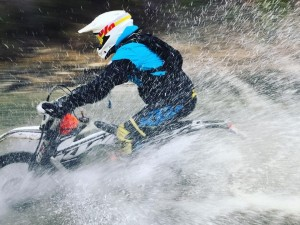 @zajcmaster ripping through a river in Croatia with our excellent guide @endurides ! #ktm #enduro #250exc #ride100percent