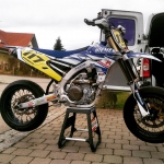 Very nice 2016 #Yamaha #YZ450f #supermoto sent to us by Banholzer – Racing / Team Hiemer Yamaha. www.banholzer-racing.de