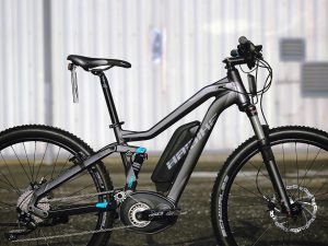 The FULLSEVEN S RX. The pedal assistance takes you up to 45 km/h on this model! So fast that it needs a license plate. #eperformance #Haibike #XDURO #FULLSEVEN #pedelec #ebike #mtb