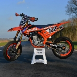 Super tricked out 2016 #KTM #supermoto by DWS Decals in the Netherlands sent to us by @supermofools @crashking_smf