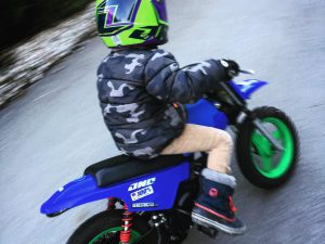 First ride of the year for my boy! #yamaha #pw50