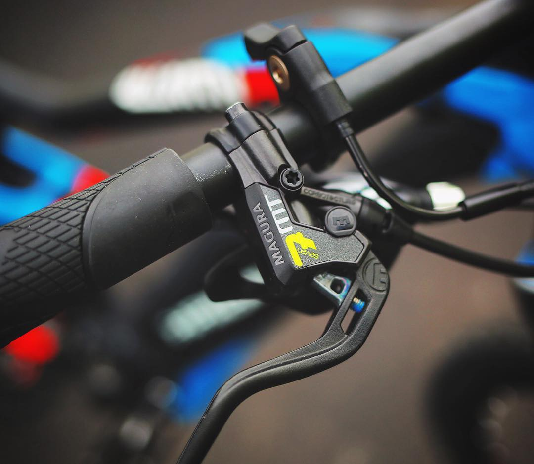 The new top of the line #Magura #mt7 4 piston brakes on this #xduro AllMtnPro are capable of doing some serious stopping business! #eperformance #MTB #emtb #ebike
