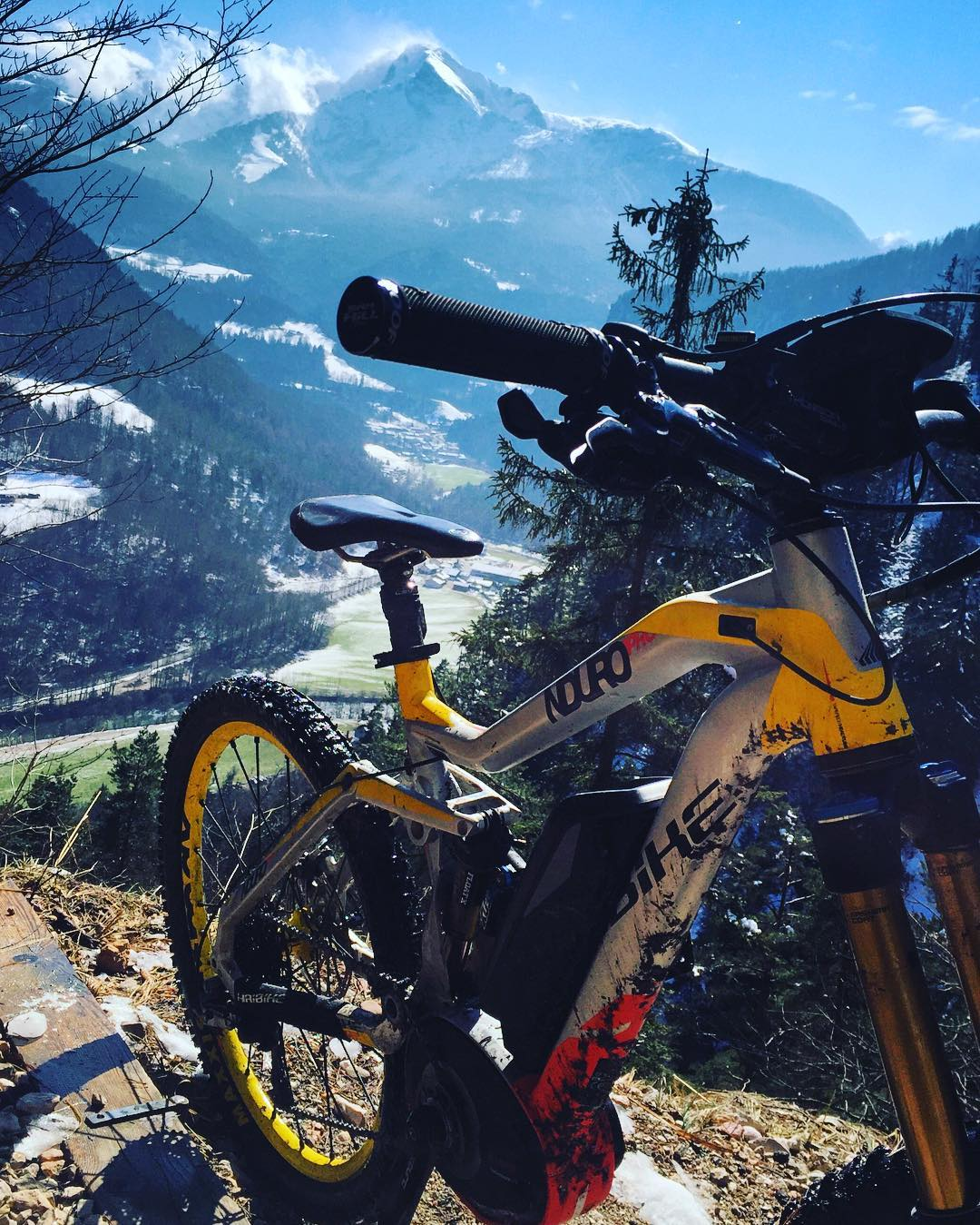 The higher you get, the better the view! #Haibike #NDURO #xduro #MTB #mountains #eperformance #mountainbike