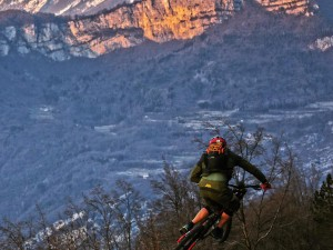 Nice view heading down. @tschugg23 making the best of the fading light at the end of the day. #xduro #haibike #sduro #mtb #dh #enduro #ride100percent
