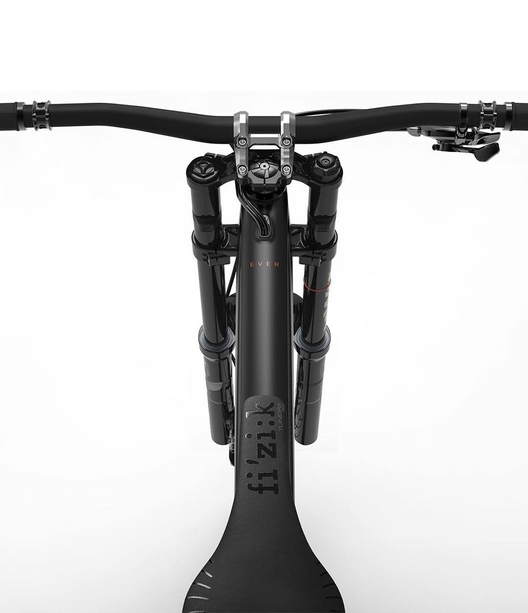 This must be one of the cleanest cockpits ever! Amazing new Carbon fiber bikes from @rideunno ! #MTB #DH #enduro