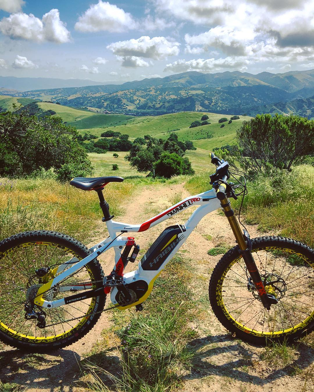 Everywhere feels like #downhill on the  #xduro #dwnhllpro 😛 #DH #MTB #Emtb #EBike #haibike @haibikeusa