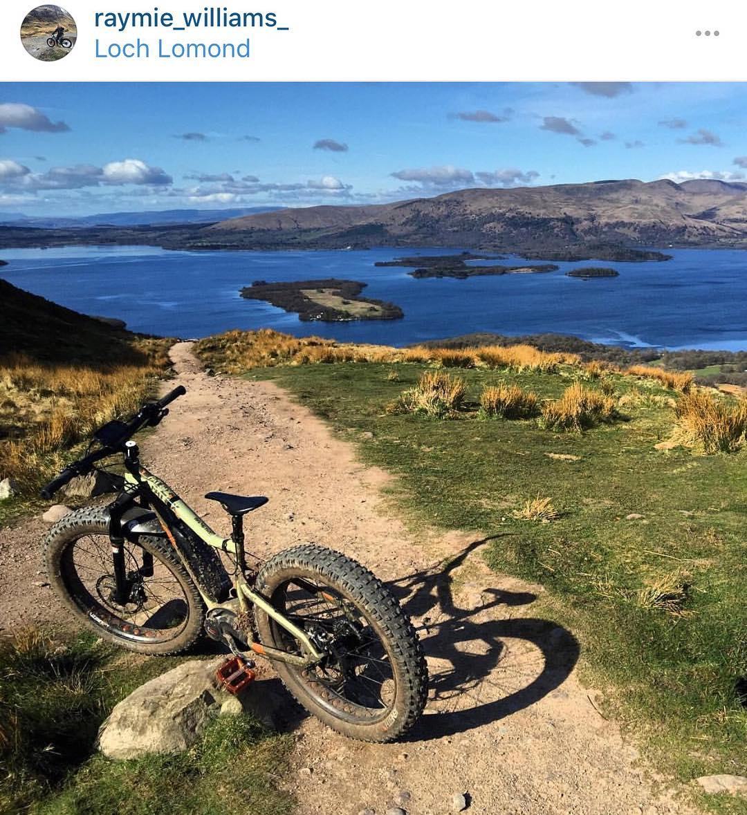 Great shot by @raymie_williams_ out on his #Haibike #fatsix in Scotland!