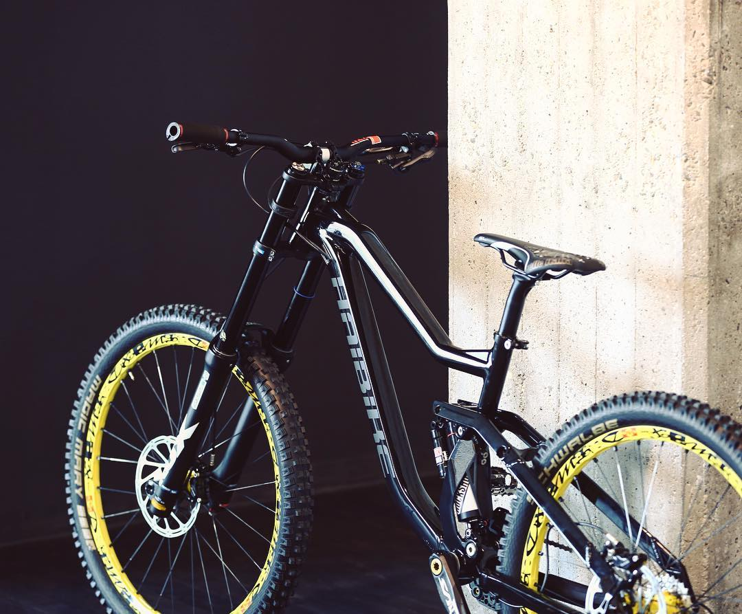 New #haibike Downhill prototype! #MTB #dh