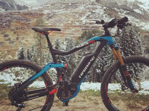 In the mountains with the #AllMtn Pro!  #MTB #Emtb #haibike #XDURO #erzberg