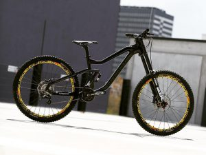 Another shot of the new #haibike #DH prototype ! #MTB